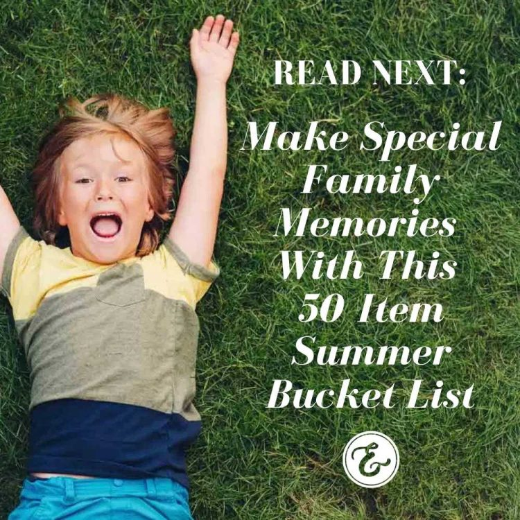 Make special family memories with this 50 item summer bucket list board
