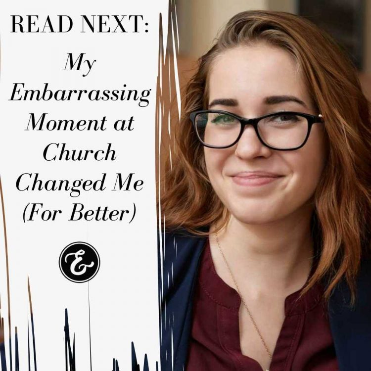 my embarrassing moment at church board