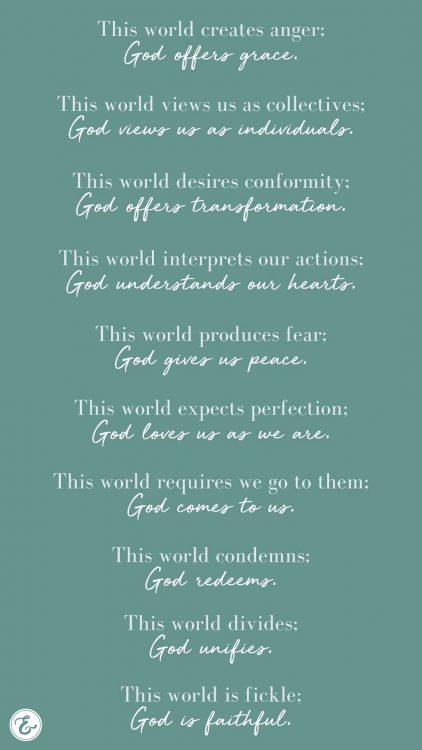 in a changing world we can rest assured that god remains the same