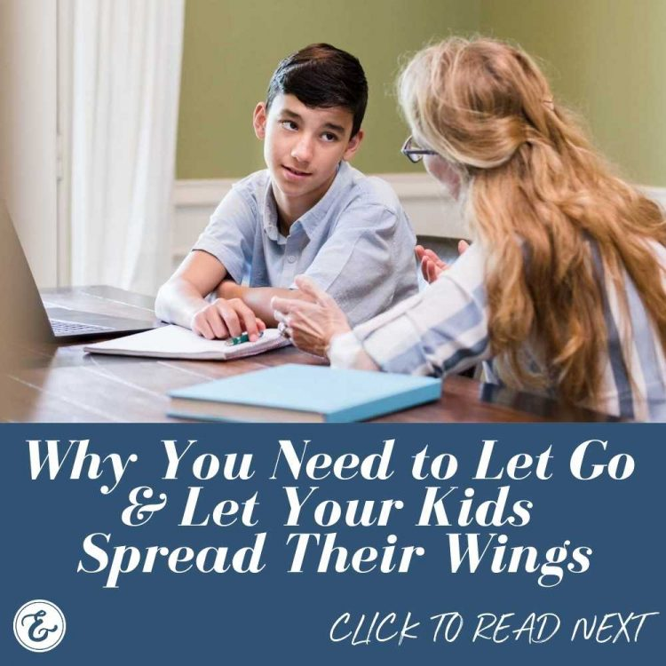 why you need to let go and let your kids spread their wings